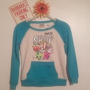 Girls' Time 2 Shop Long Sleeve Hacci Crew Neck Top
